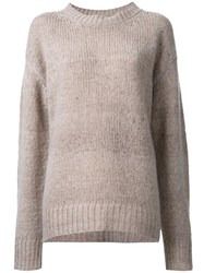 Marc Jacobs Loose Fit Knitted Jumper Brown