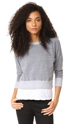 Monrow Double Layer Sweatshirt Dark Heather