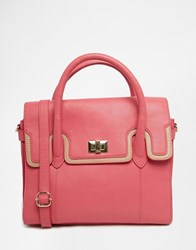 Urbancode Mini Leather Tote Bag Pink Lizard