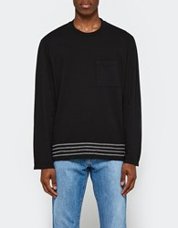 Our Legacy Box Longsleeve Black Embroidered Stripe
