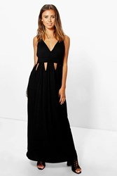 Boohoo Diana Keyhole Detail Maxi Dress Black