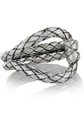 Bottega Veneta Oxidized Sterling Silver Ring