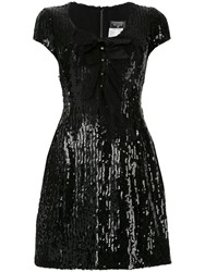 Chanel Vintage Short Sleeve One Piece Dress Black