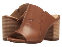 Hush Puppies Sayer Malia Tan Leather Women's Wedge Shoes