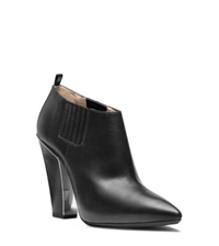 Michael Kors Lacy Leather Ankle Boot Black