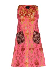 Femme By Michele Rossi Short Dresses Fuchsia