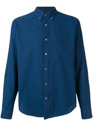 Closed Button Down Shirt Blue