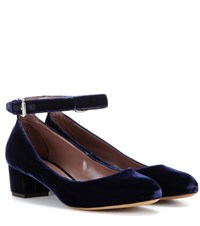 Tabitha Simmons Martha Velvet Pumps Blue