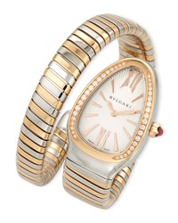 Bulgari 35Mm Serpenti Tubogas Diamond Watch Two Tone Cream Bvlgari