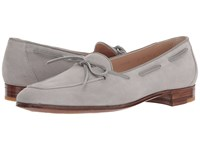 Gravati Bowed Velukid Slip On Loafer Light Grey Suede Slip On Shoes Gray