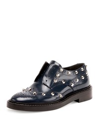 Balenciaga Studded Wing Tip Derby Loafer Bleu Obscur Women's