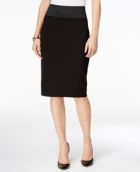 Inc International Concepts Petite Pull On Pencil Skirt Only At Macy's Deep Black
