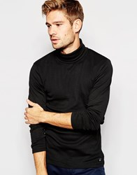 Esprit Long Sleeve Roll Neck Top Black