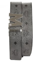 Mcm Claus Reversible Belt Grey Eg