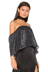 Backstage Rianna Top Metallic Silver
