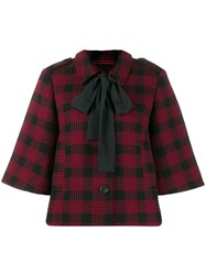 Red Valentino Houndstooth Boxy Jacket Red