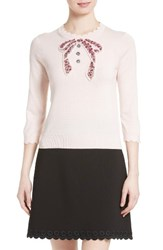 Kate Spade Women's New York Embellished Bow Sweater