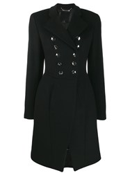 Philipp Plein Double Breasted Coat Black