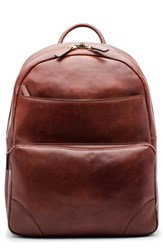 Bosca 'S Dolce Leather Backpack Brown Dark Brown