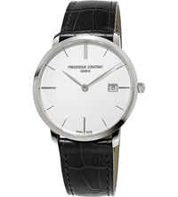 Frederique Constant Fc220s5s6 Slimline Stainless Steel Watch White