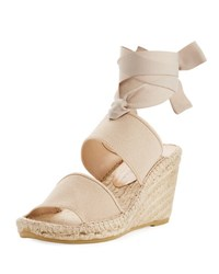 Bettye Muller Destiny Ankle Wrap Wedge Espadrille Nude