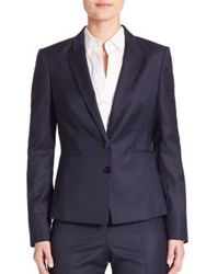 Boss Jalanda Virgin Wool Pinstripe Blazer Navy Fantasy