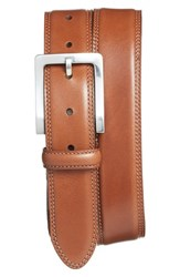 Men's Bosca Double Stitch Leather Belt