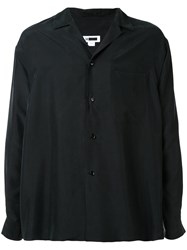 H Beauty And Youth Button Up Shirt Black