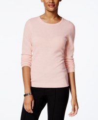 Charter Club Petite Cashmere Crew Neck Sweater Only At Macy's Parasol Pink