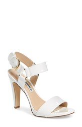 Karl Lagerfeld Cieone Sandal White Patent Leather