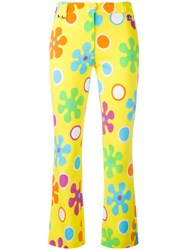 Moschino Flower Power Cropped Trousers Yellow Orange