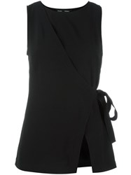 Proenza Schouler Sleeveless Wrap Top Black
