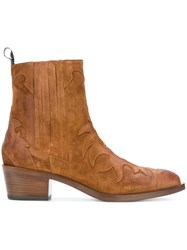 Sartore Western Ankle Boots Nude And Neutrals