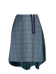 Kolor Pleated Back Hound's Tooth Skirt