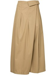 Des Pres Wrap Style Skort Nude And Neutrals