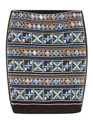 Label Lab Embroidered Short Skirt Multi Coloured