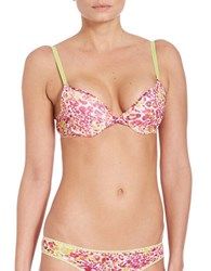 Ongossamer Mesh Bump It Bra Watercolor