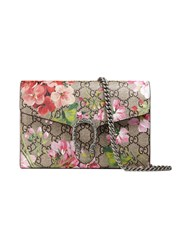 Gucci Dionysus Blooms Print Mini Chain Bag Women Leather Canvas Metal One Size Nude Neutrals