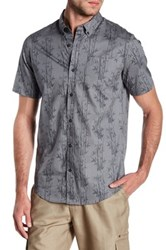 Burnside Printed Contemporary Fit Shirt Gray