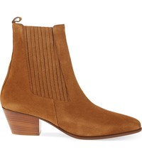Sandro Amelya Heeled Suede Chelsea Boots Camel