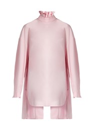 Ellery Runaways Pleated Collar Cotton Shirt Pink