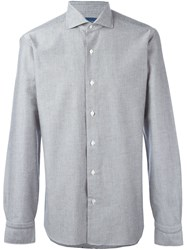 Barba Button Down Shirt Grey