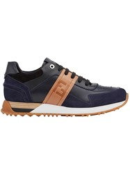 Fendi Panelled Lace Up Sneakers Black