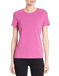 Lord And Taylor Petite Striped Tee Purple Orchid