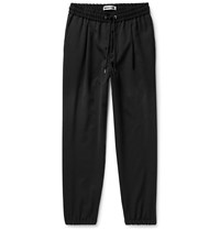 Mcq By Alexander Mcqueen Slim Fit Tapered Woven Drawstring Track Pants Black