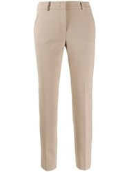 Peserico Slim Fit Trousers Neutrals