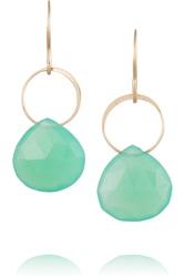 Melissa Joy Manning 14 Karat Gold Chrysoprase Earrings