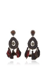 Ranjana Khan Black Teardrop Earrings