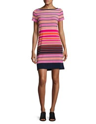 Michael Kors Striped T Shirt Dress Mandarin