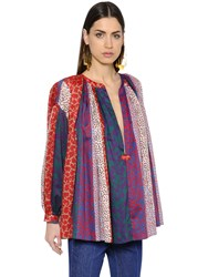 Sonia Rykiel Bohemia Flare Multi Printed Cotton Shirt